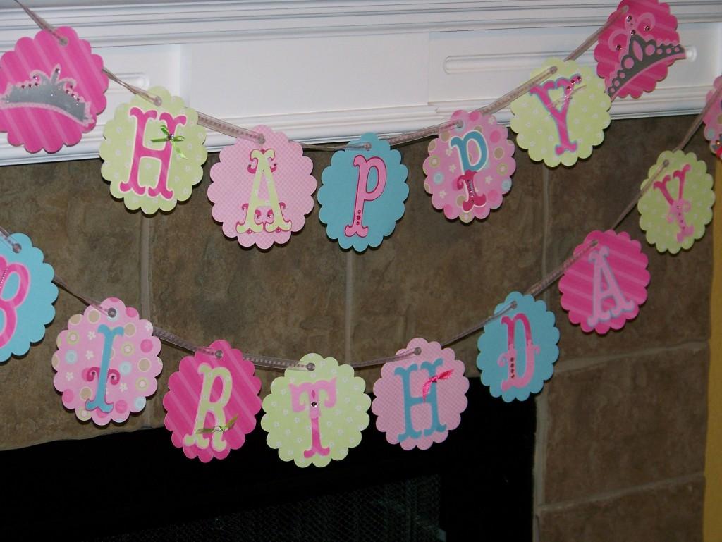 Birthday Banner Close Up