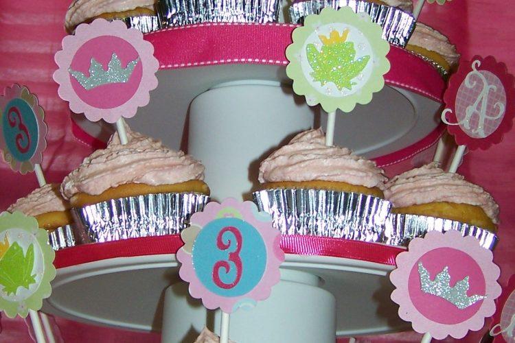 Cupcake tower close up