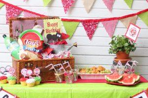 Watermelon picnic party