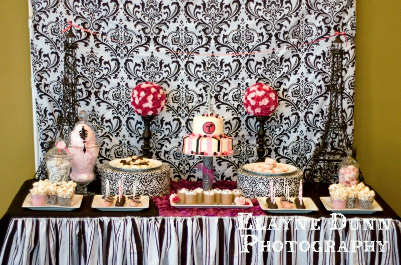 Paris Party Dessert Table