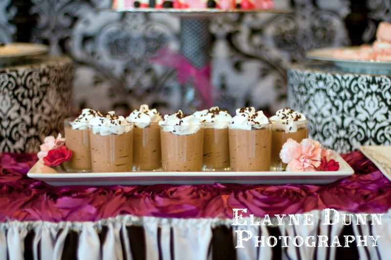 Paris Party Mousse Cups