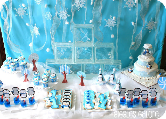 Penguins amp Polar Bears Winter ONEderland Birthday Party