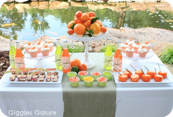 Citrus party dessert table gg