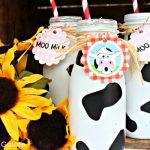 Cow Print Milk Bottles