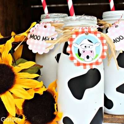 Cow Print Milk Bottles