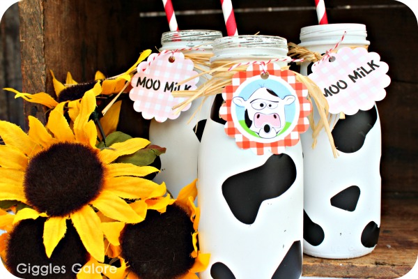 Moo milk bottles gg