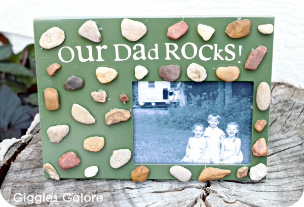 Our Dad Rocks Picture Frame - Father\'s Day Gifts - Giggles Galore