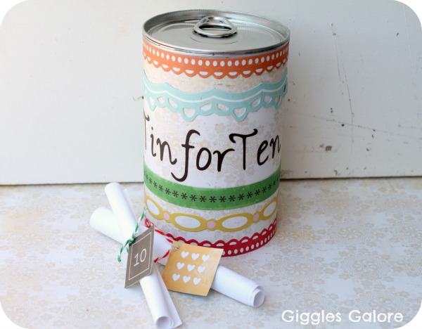 Today I am celebrating my 10th anniversary with the love of my life. I am so lucky to have married my best friend who is a wonderful father and provider ... & 10 Year Wedding Anniversary / Celebration Gift Idea: DIY Tin for Ten ...
