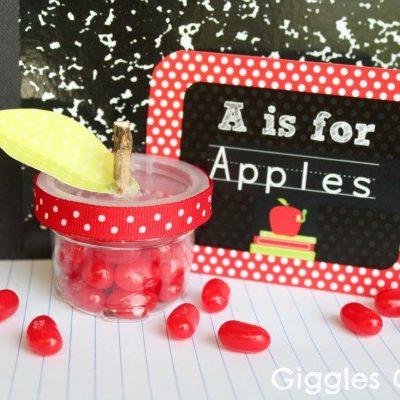 Back to School Apple Candy Treats