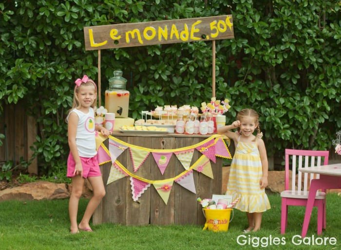 Lemonade stand party with diy lemonade stand kits for Cool lemonade stand ideas
