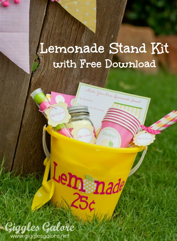 Make your own lemonade stand bucket free dowload