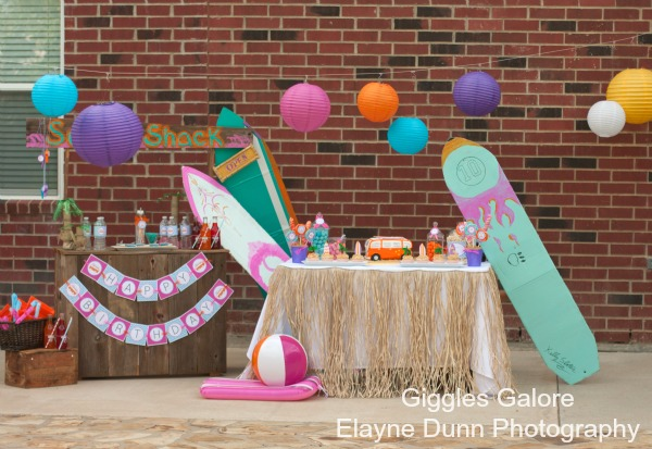 Hang Quot 10 Quot Retro Surf Shack Birthday Party Giggles Galore