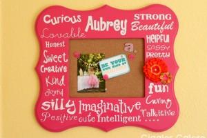 Personalized memo board poppy seed projects jpg