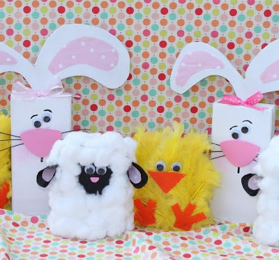Spring Chick, Lamb & Bunny 2×4's