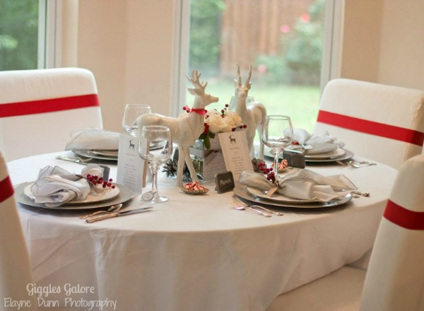 Winter wonderland table setting