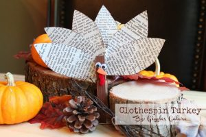 Clothespin Turkey Craft
