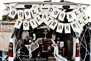 Double Double Toil and Trouble {Trunk or Treat}