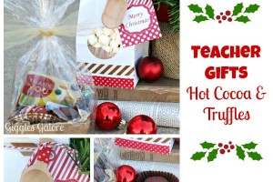 Christmas Teacher Gifts Hot Cocoa and Truffles