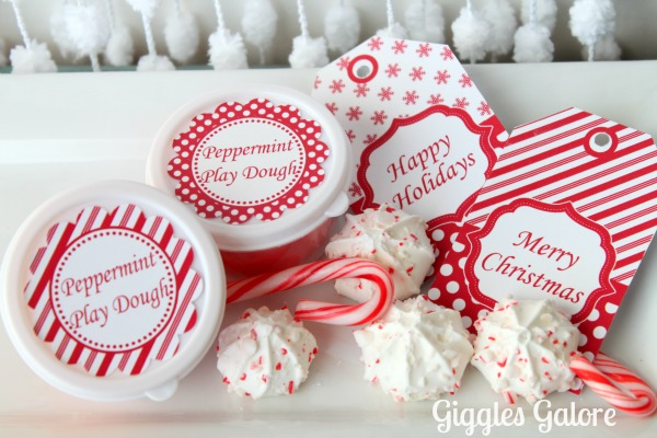 Peppermint play dough gifts