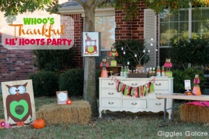Whoo's Thankful {Owl Party}