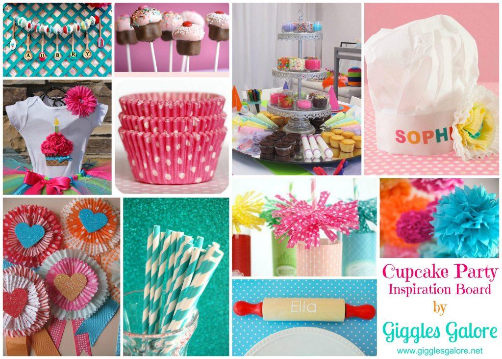 Cupcake inspiration board