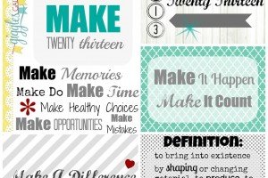 One Little Word 2013: MAKE
