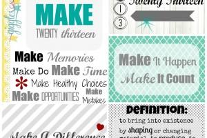 One Little Word 2013: MAKE