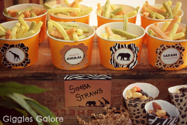 Party animal safari treats