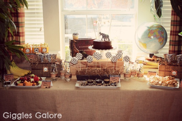 Safari adventure birthday party