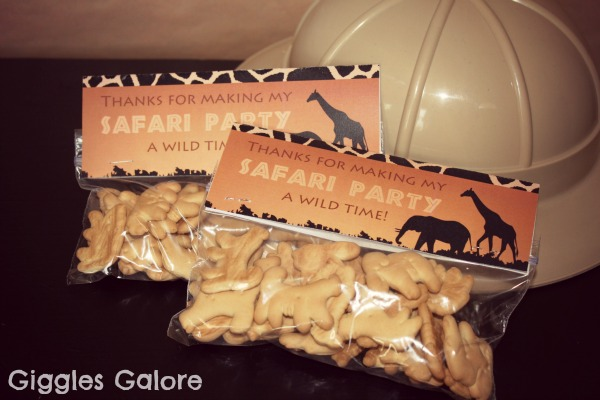 Safari party favors