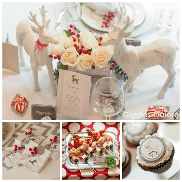 Winter wonderland dinner party