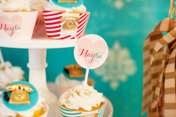 Call me maybe valentines day party cupcake topper1