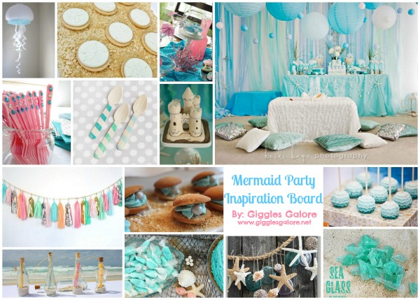 Mermaid theme inspiration board