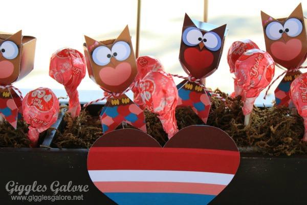Owl lollipops