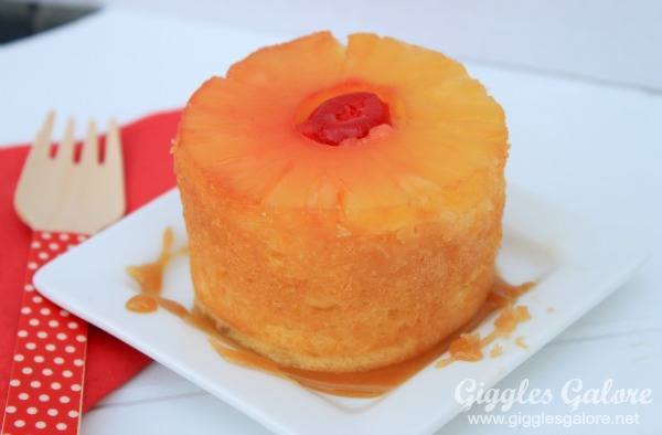 Pineapple upside down cake giggles galore