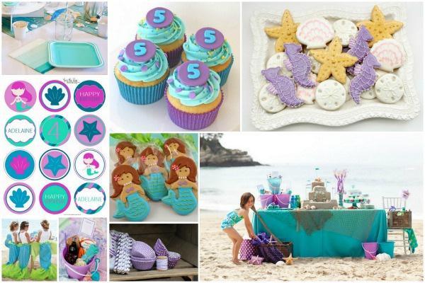 Purple mermaid inspiration board