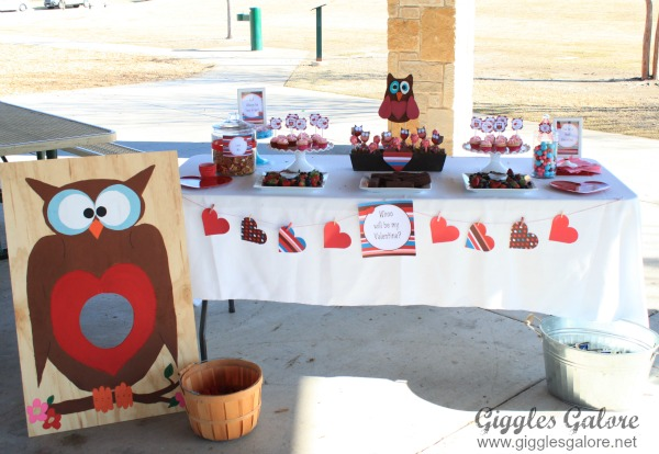 Whoo loves you valentines play date