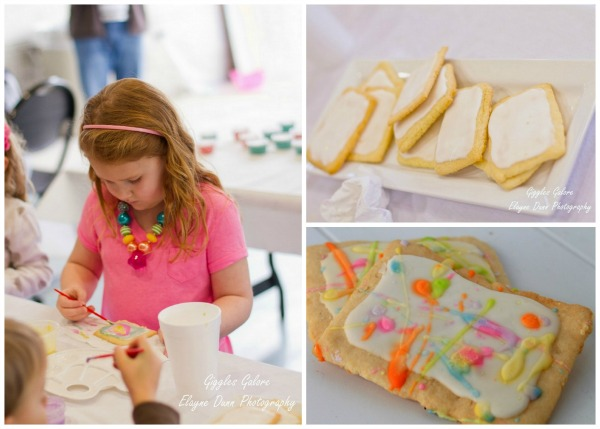 Art gallery party painting cookies2