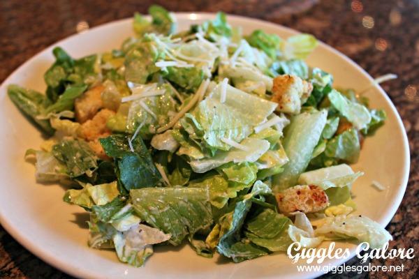 Date night at bjs restaurant cesar salad