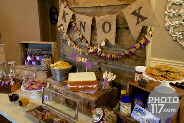 Pbj peanut butter dessert table