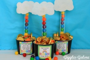 St. Patrick's Day Bubble Gum Rainbow and Pot of Gold