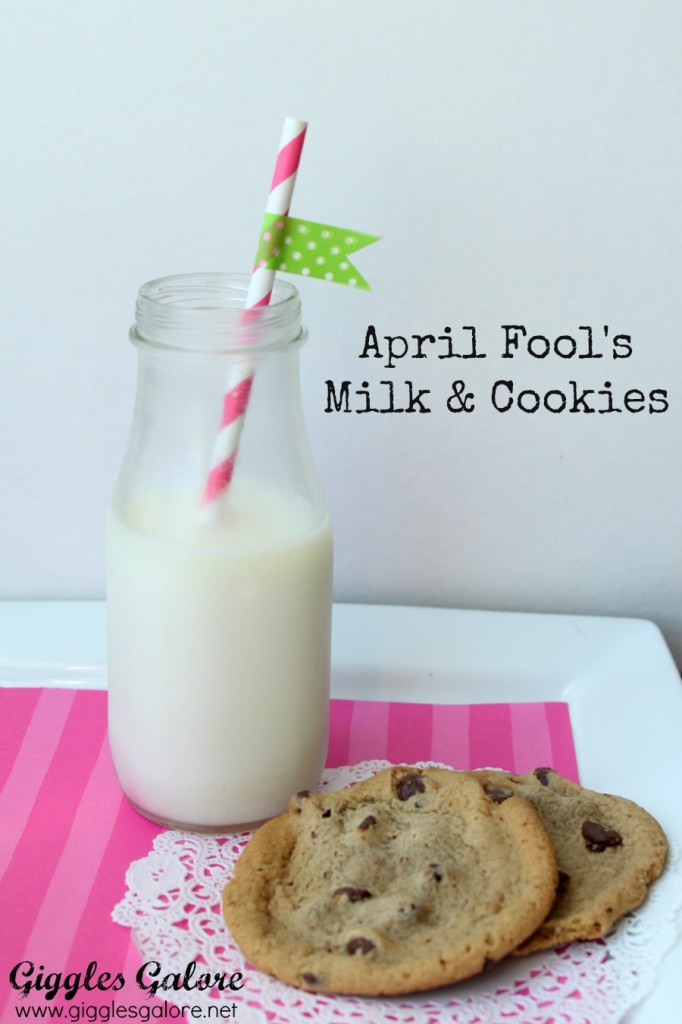 April fools milk cookies