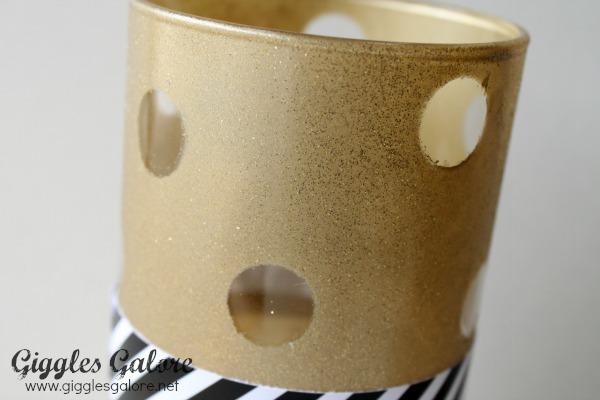 Glitter and gold diy vase
