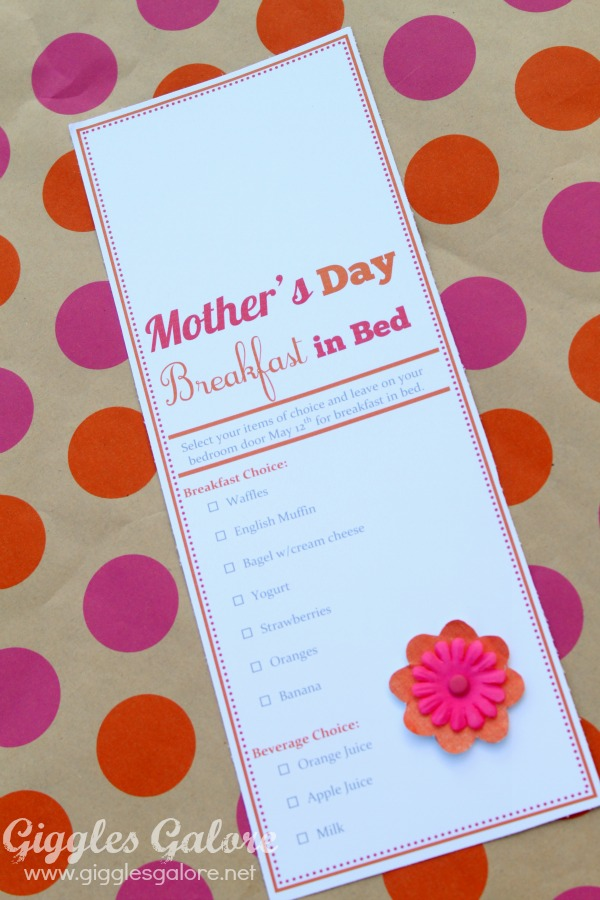 MotherS Day Room Service Door Hanger