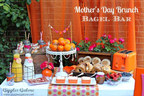 Mothers day brunch bagel bar giggles galore