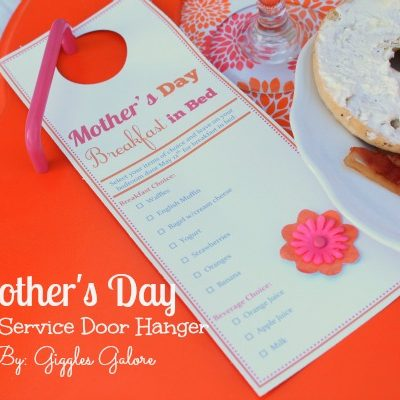 Mother's Day Room Service Door Hanger