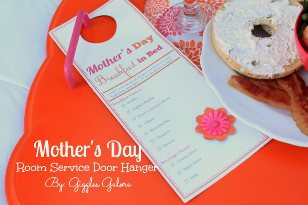Mothers day room service door hanger by giggles galore