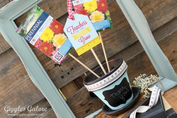 Teacher appreciation flower gift teachers help small things grow