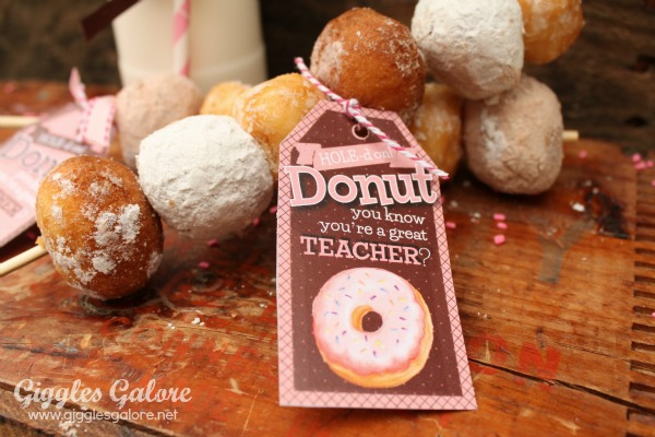 Donut holes teacher appreciation gift