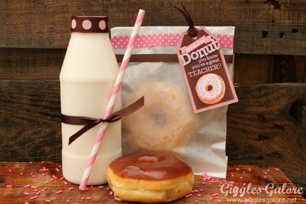 Donut teacher appreciation gift